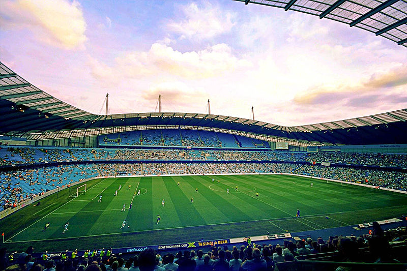 etihad City of Manchester Stadium Foto: Alfonso Jimenes/ wikimediacommons